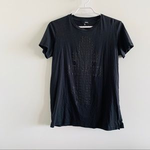 wilfred free black t shirt with beaded design